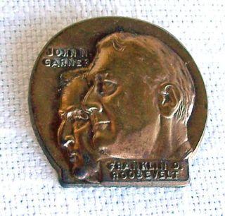 Item 15 01 – Franklin Roosevelt by John Garner Pin