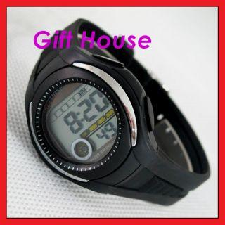 Cool Black OHSEN Children Alarm Chronograph Sport Watch