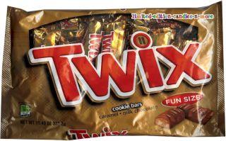 Bag Twix Milk Chocolate Cookie Caramel Candy Snack Size Halloween
