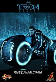 Hot Toys Disney Tron Legacy 2010 Sam Flynn Light Cycle Lightcycle LED