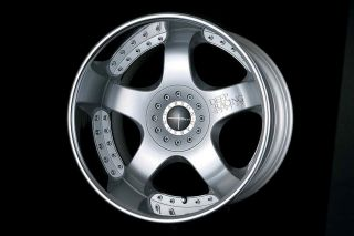 18 Garson Ryugi Deep Racing VIP Style Staggered Wheels w/ Tires