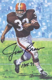 Jim Brown Autographed Signed Cleveland Browns Series 1 Goal Line Art w