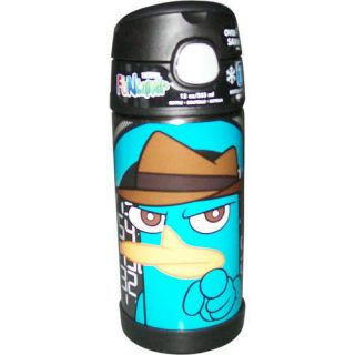 NWT Thermos Funtainer Drink Bottle Phineas and Ferb Agent P 12 ounce