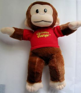 13 Curious George Cartoon Character Plush Toy Monkey in Red T Shirt
