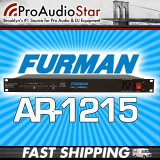 FURMAN AR 1215 AR1215 AC LINE VOLTAGE REGULATOR NYC PROAUDIOSTAR