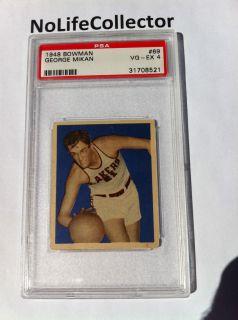 1948 BOWMAN GEORGE MIKAN #69 PSA 4 RARE CARD