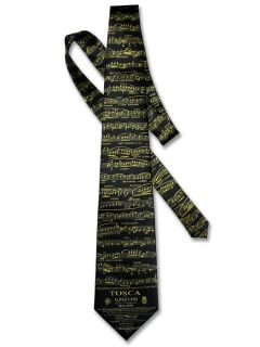 Silk Necktie Tosca Di G Puccini Music Notes Mens Neck Tie