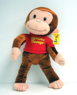 Curious George 21 inch Large Plush Monkey Doll New