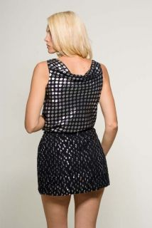 DVF Diane Von Furstenberg Size 8 TADD Black Silver Silk Dress US 8 $