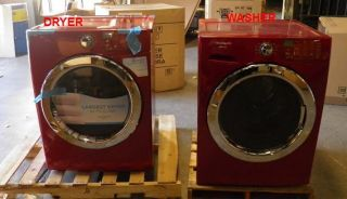 FASG7073NR 27 Front Load Washer and Gas Dryer Set Red