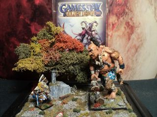 Warhammer Khoril vs Giant Games Day Entry Pro Painted magnetic display