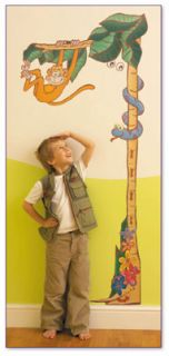 Jungle Safari Childrens Giant Wall Sticker Set   Complete Room