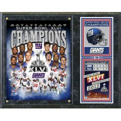 New York Giants Super Bowl 46 Champions Team Plaque Great Gift
