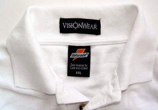 Gatorade Mens White Cotton Golf Polo Shirt Size 2XL XXL Excellent
