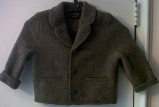 Prestine Giesswein Size 2 Toddlers 100 Wool Light Brown Jacket Coat 2
