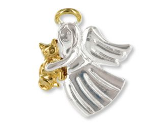 Angel for Cat Lovers Wings Wishes Tac Pin Gift Boxed