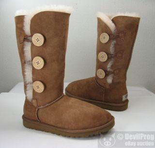 UGG Australia Womens Bailey Button Triplet Sheepskin Boot US 5 EU 36
