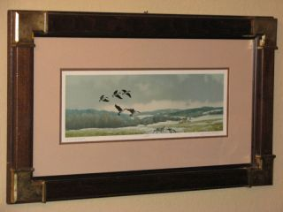 Gerald H Lubeck Limited Edition Canadian Geese Print