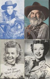 Roy Rogers Dale Evans Gabby Hayes Arcade Post Cards