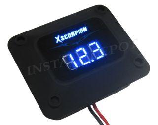 Digital 12V Blue LED Voltage Volt Meter Amp Car Battery Black Finish
