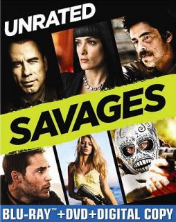 Savages (Blu ray + DVD) BRAND NEW just released