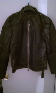Affliction Mens Gear Up Leather Jacket Black Limited Edition Size M