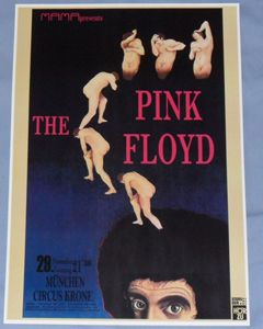 Pink Floyd Concert Poster Munich Germany 1970 Atom Heart Mother Tour