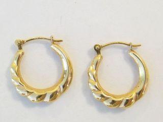14k Yellow Gold Hoop Earrings 0 8 Grams