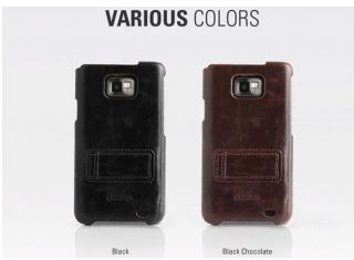 ZENUS Samsung i9100 Galaxy S2 Leather Stand Case Cover
