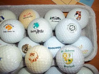 vtg 64 Club Logo Golf Balls St Andrews PGA Masters Ryder Cup MLB FBI