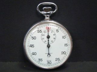 VINTAGE GALLET JULES RACINE STOP WATCH 7j MONOPUSHER SWISS No 3364