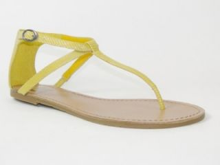 Gianni Bini Sun Ray Womens Shoes Flat Sandals Yellow 7
