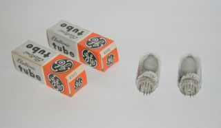 General Electric GE 6JS6C Electronic Tubes NOS Matching Date Codes