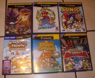Gamecube Games Super Mario Sunshine Harvest Moon Spyro Animal Game