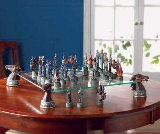 Deluxe Civil War Chess Set Table Game Play PC 5 5 8Hi