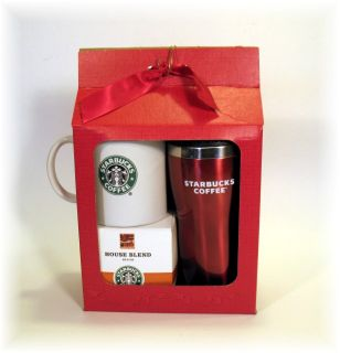 Starbucks 2009 Coffee Mug Tumbler Gift Set New