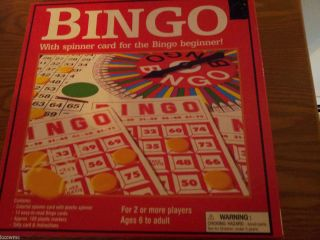 Vintage Bingo Game with Spinner Cards and Markers