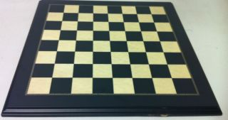 Scratch Dent 18 Ebonized and Maple Chess Board 1 3 4 Squares