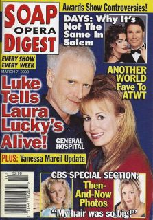 General Hospitals Anthony Geary Genie Francis March 7 2000 Soap Opera