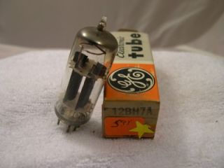 Vintage Electronic Vacuum Tube General Electric 12BH7A USED