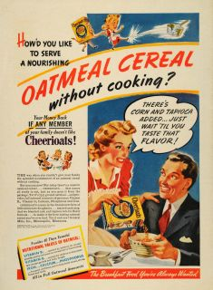 ad cheeriots cereal general mills breakfast wife original advertising