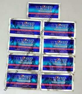 Crest 3D White Gentle Routine Whitening Strips Teeth Dental 18 Strips
