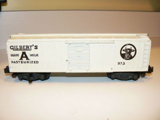 973 Gilbert's Milk Car American Flyer Trains Train Excellent Boxcar