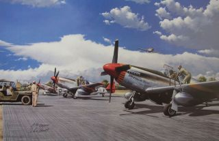 AIRMEN RED TAILS  1 Lee Archer Charles McGee Aviation Art