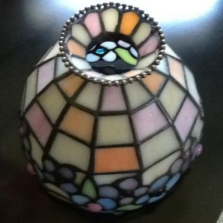 Hydrangea Leaded Stained Glass Tealight Candle Lamp Shade Replacement
