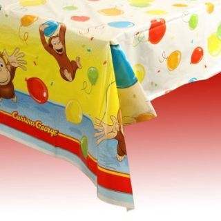 Curious George Birthday Party Plastic Tablecover New