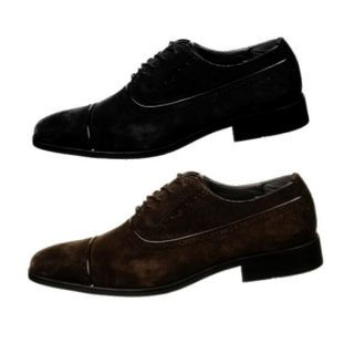 Calvin Klein Mens Dress Shoe Oxford Glendon F4475 Suede Lace Up Black