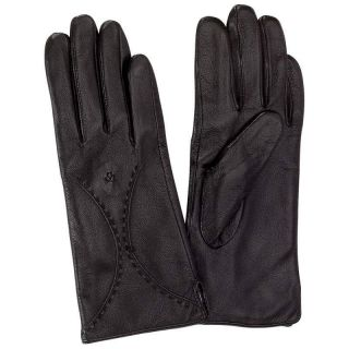Giovanni Navarre Genuine Black Leather Ladies Dress Driving Gloves