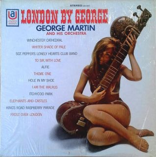 GEORGE MARTIN LONDON BY GEORGE UA LP CHEESECAKE CVR PROMO STAMP