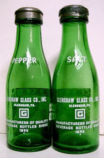 1940 A B C B Convention Salt Pepper Set ACL Mini Bottles